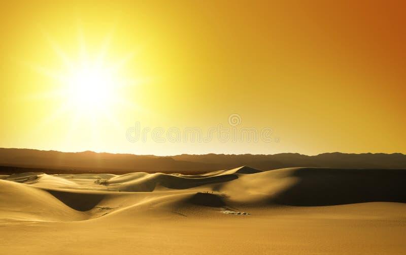 Dunas de arena en la puesta del sol fotos de archivo libres de regalías