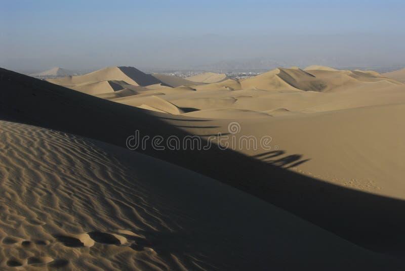 Dunas de arena, Huacachina fotografía de archivo