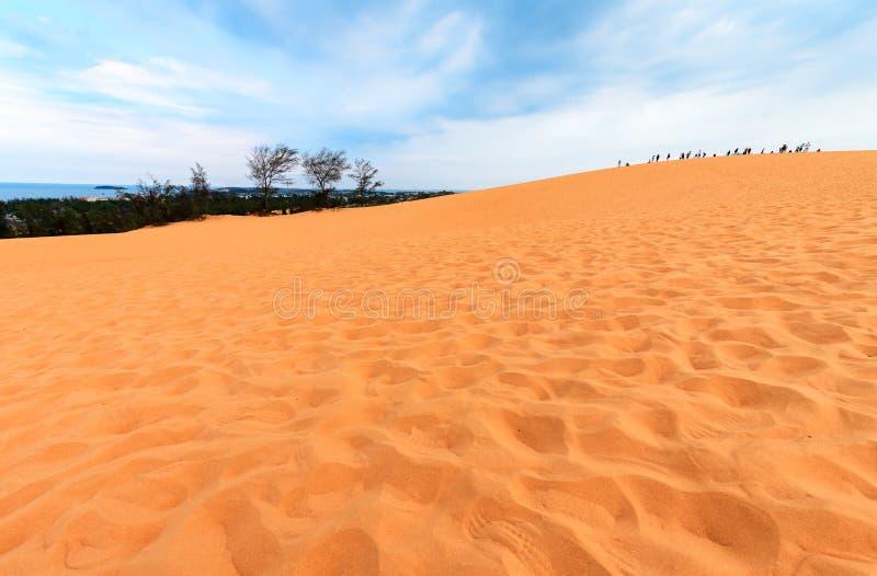 Dunas de arena rojas Binh Thuan, Vietnam fotografía de archivo libre de regalías