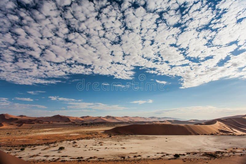 Dunas de arena rojas del Sossusvlei en Namibia foto de archivo