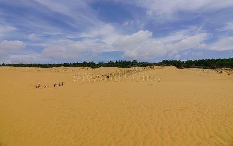 Dunas de arena rojas en Ne de Mui, Vietnam fotografía de archivo libre de regalías