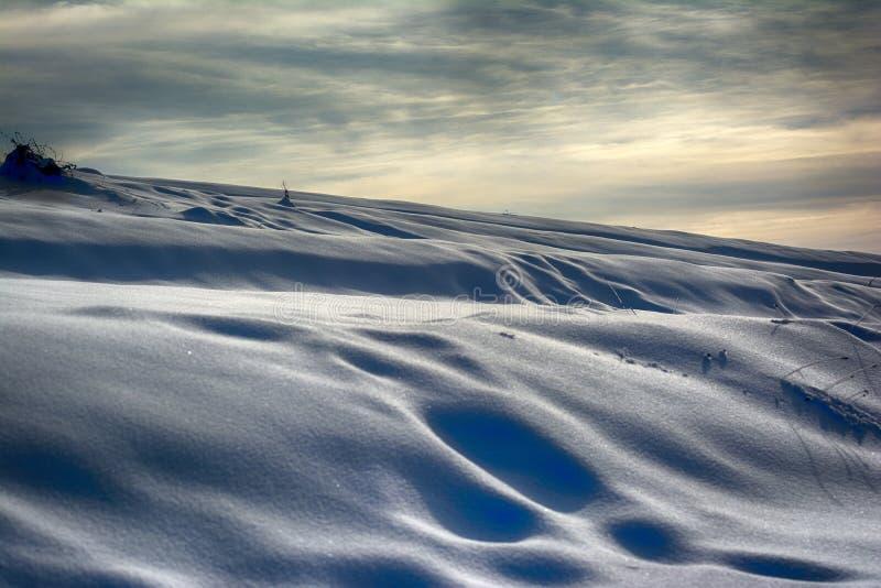 Dunas de la nieve imagen de archivo