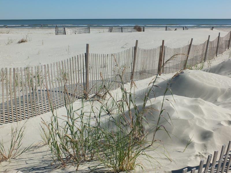 Dunas de la playa de la locura fotos de archivo