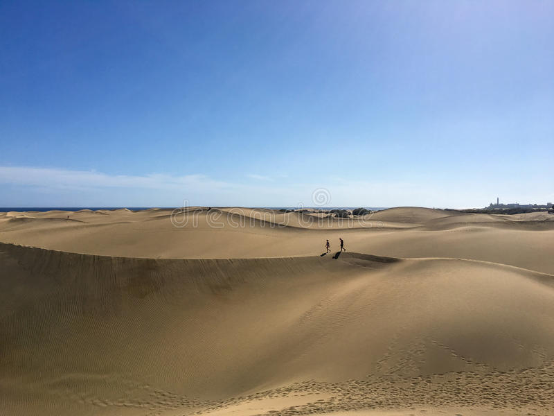 Dunas de Maspalomas - Gran Canaria imagens de stock