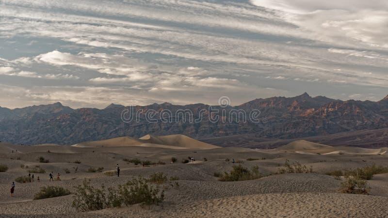 Dunas, Death Valley, California fotos de archivo libres de regalías
