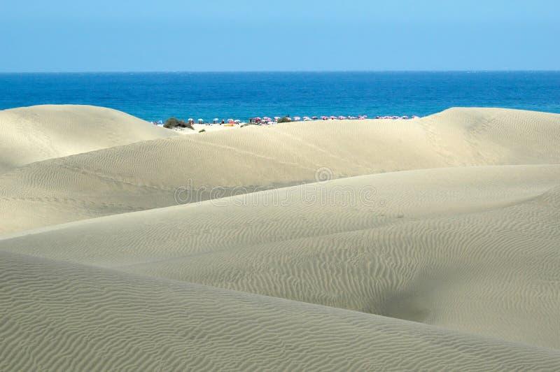 Dunas del gran Canaria fotografía de archivo libre de regalías
