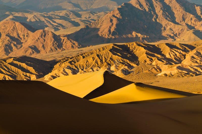 Dunas do Mesquite no Vale da Morte fotos de stock