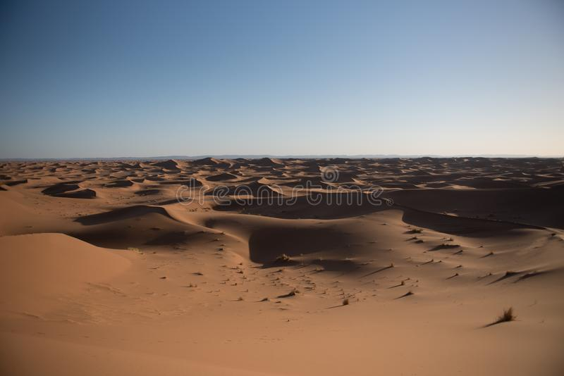 Dunas en el desierto del Sáhara, Marruecos imágenes de archivo libres de regalías