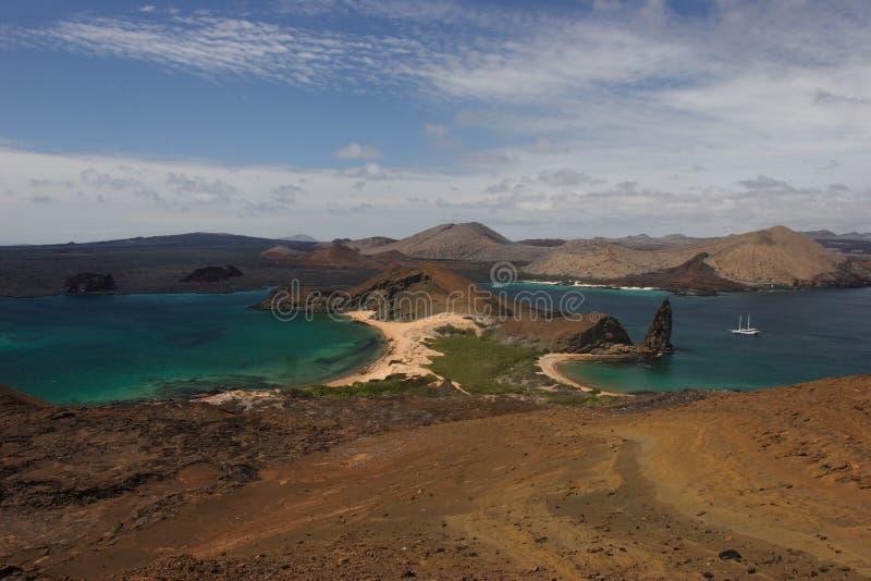 Dunas en la isla de Bartolomé foto de archivo