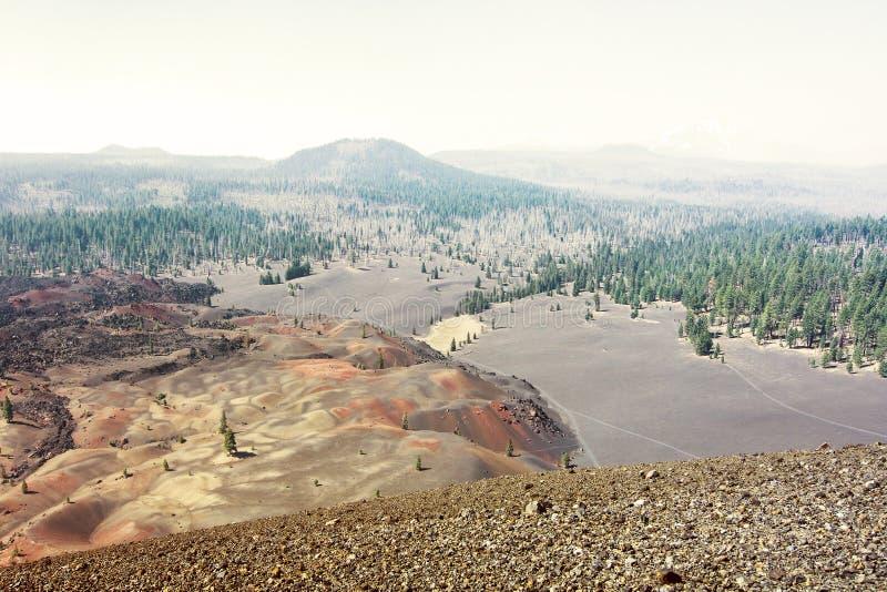 Dunas pintadas no parque nacional vulcânico de Lassen imagem de stock