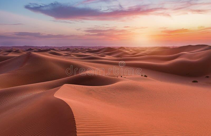 Dunas vacías del desierto en Liwa, Abu Dhabi, Emiratos Árabes Unidos imagenes de archivo