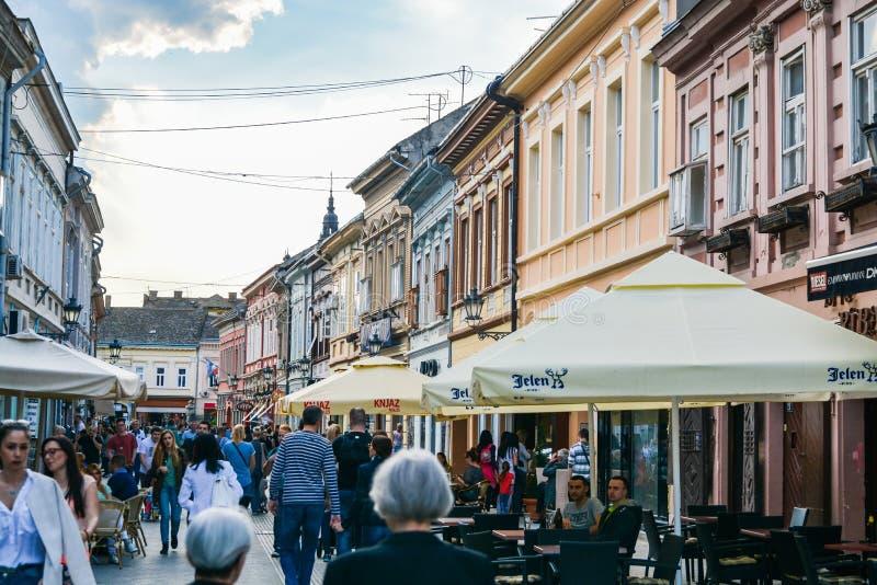 Dunavska-Straße, Novi Sad stockfoto