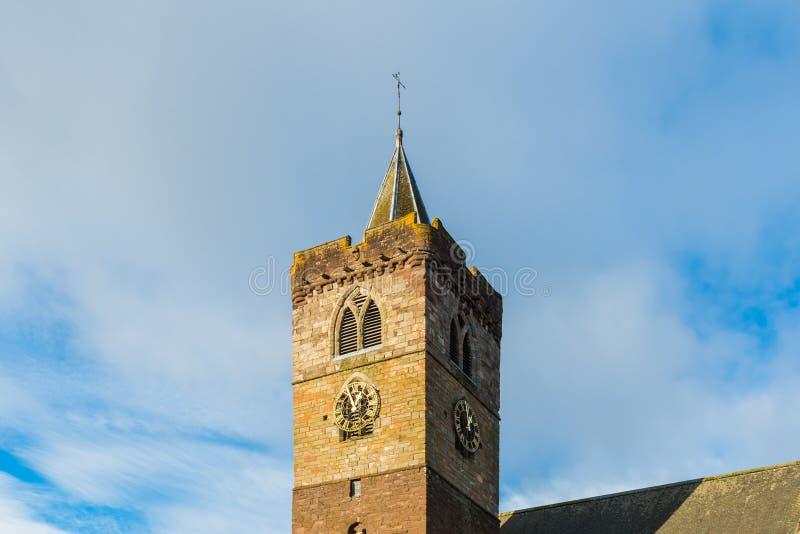 Dunblane Katedralny Zegarowy wierza zdjęcie stock