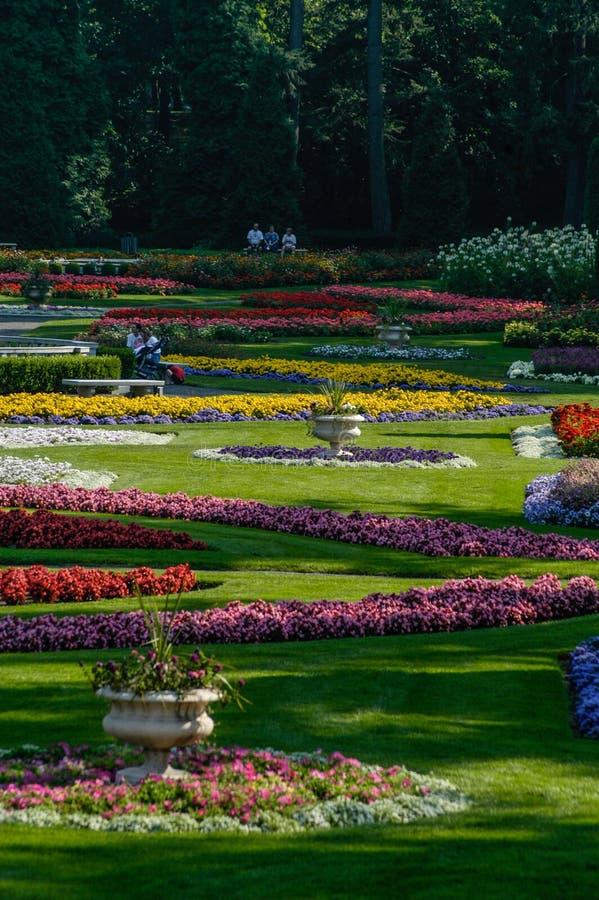 Duncan Gardens bij Manito-Park, Spokane, WA stock afbeeldingen