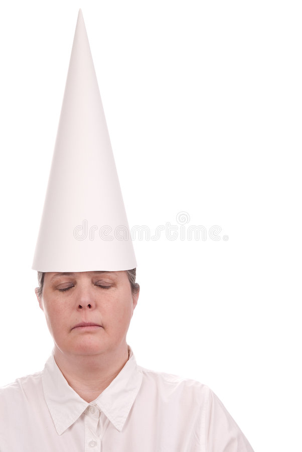 dunce ΚΑΠ γυναίκα στοκ φωτογραφία με δικαίωμα ελεύθερης χρήσης