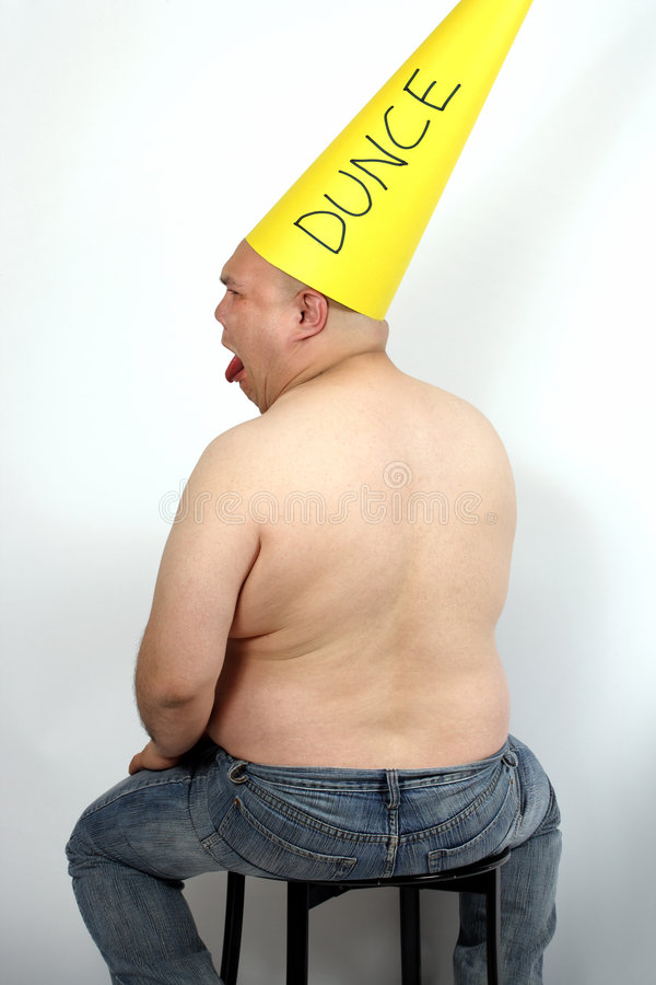 Download Dunce cap stock photo. Image of male, failure, tongue - 6706052