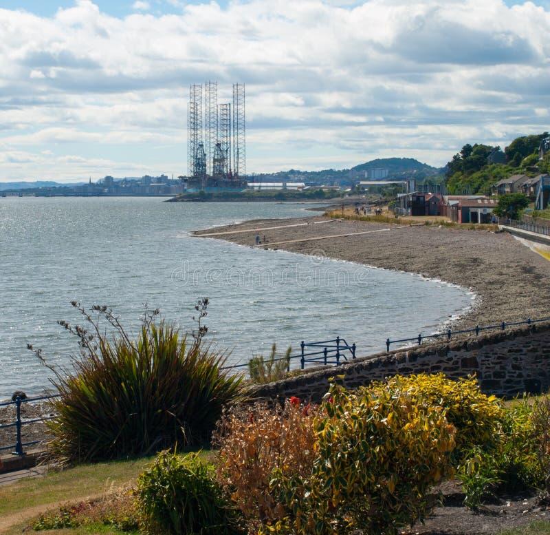 Dundee von der Westfähre stockbilder