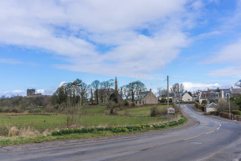 Dundonald kasztel i Stary kościół fotografia royalty free