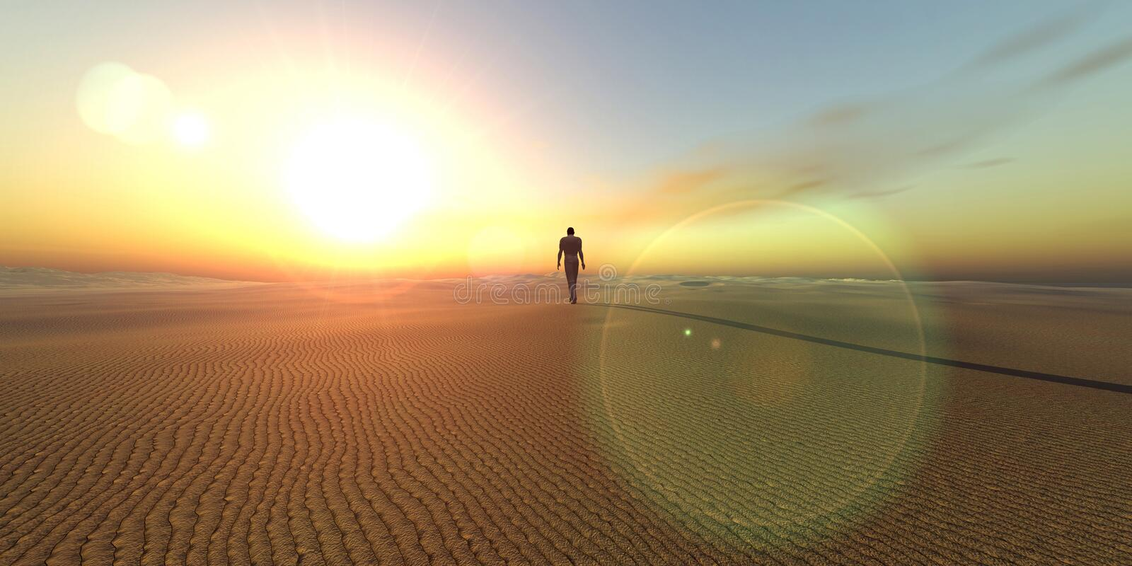 Dune. Symbolic scenery (3D rendered