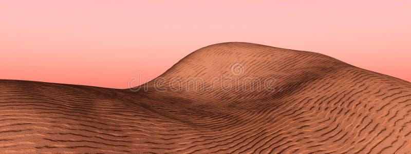 Dune. Sand desert dune - digital artwork vector illustration