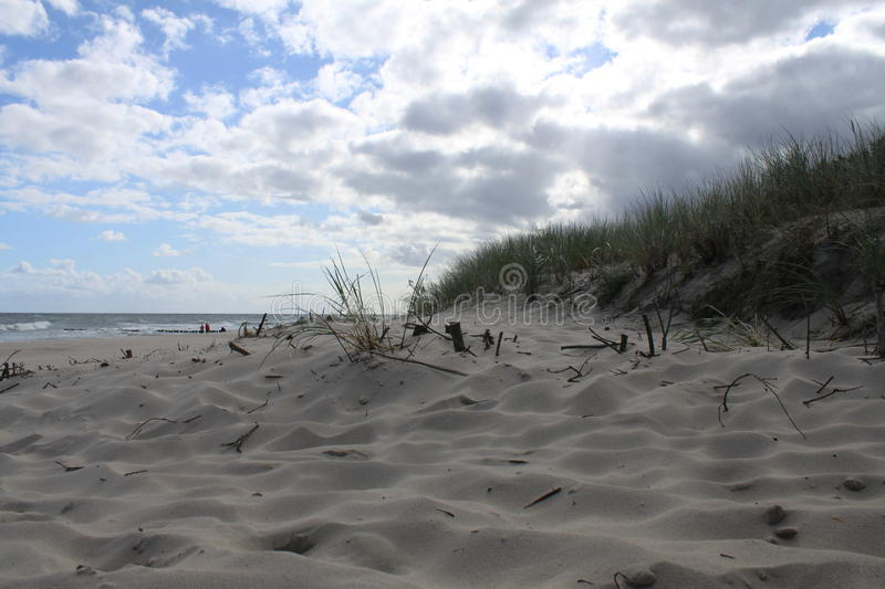 Dune on the Baltic Sea beach, Hel, Poland stock images
