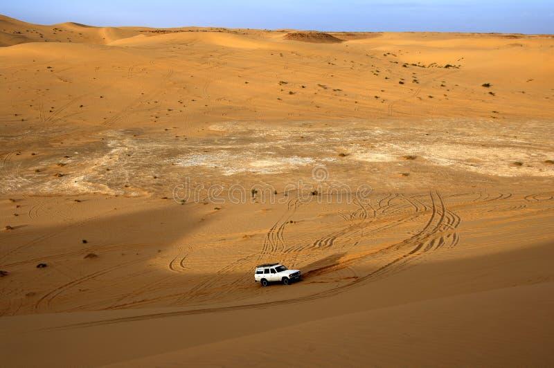 Dune bashing. In the sand dunes of the Sahara desert, Libya stock photography