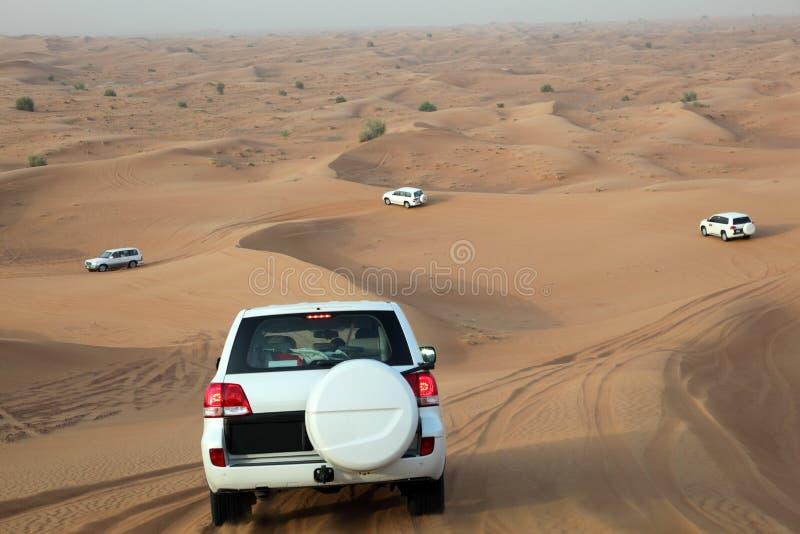 Dune bashing in Dubai. United Arab Emirates royalty free stock photography