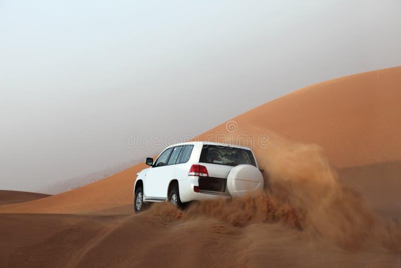 Dune bashing in Dubai. United Arab Emirates royalty free stock photo