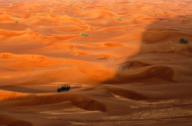 Dune bashing. At maliha desert in RAK stock images