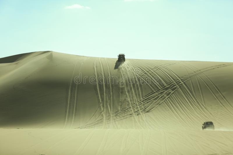 4 by 4 Dune bashing Siwa Desert. Egypt, drive. royalty free stock image