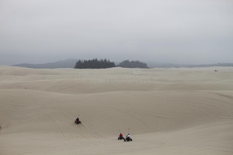 Dune buggies on the Oregon sand dunes royalty free stock photos