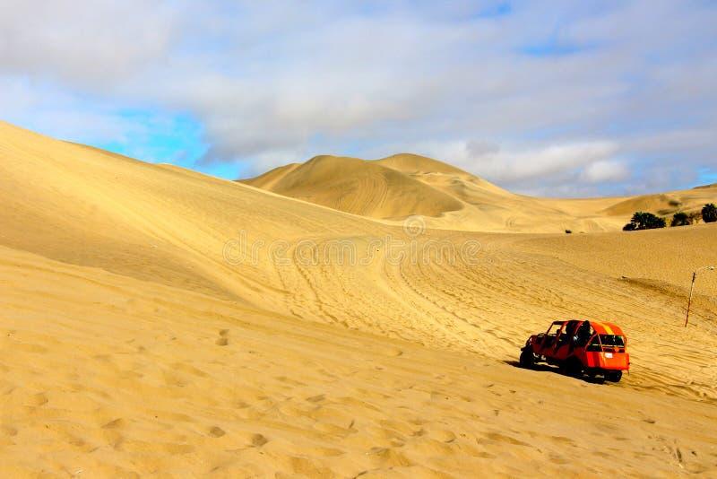 Dune Buggy. A high speed dune buggy dune bashing royalty free stock photography
