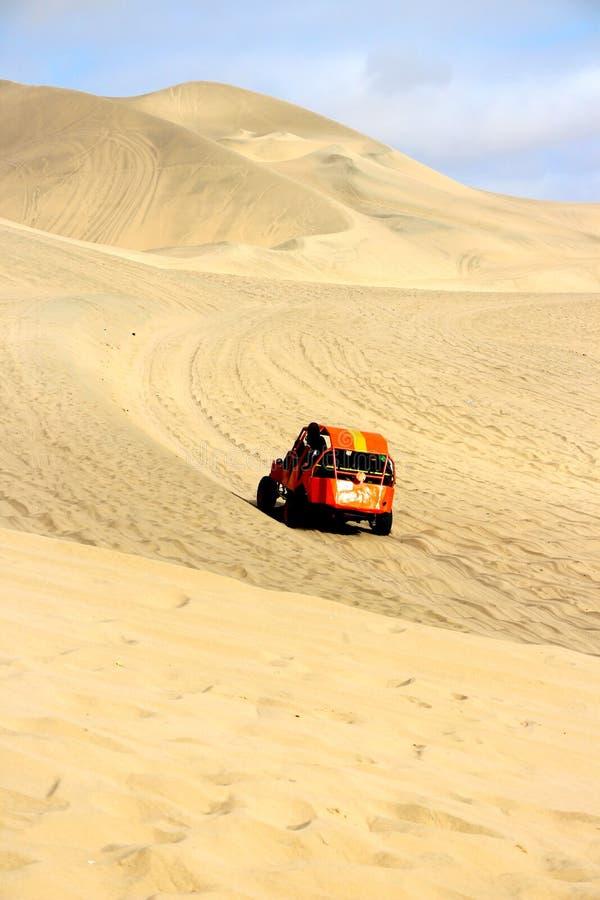 Dune Buggy. A high speed dune buggy dune bashing stock image