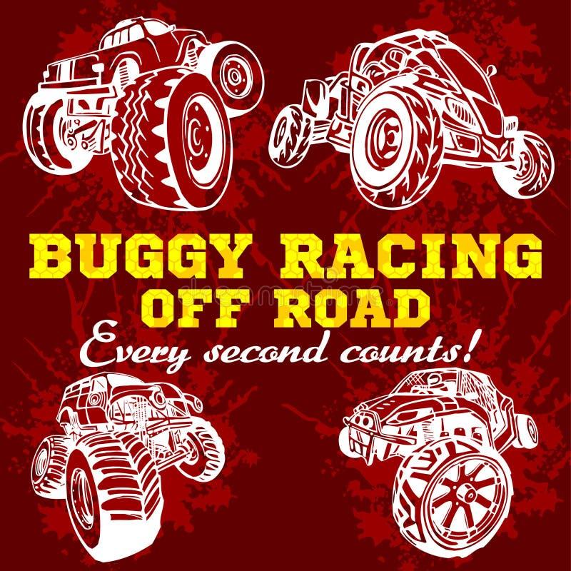 Dune buggy and monster truck - vector badge. Dune buggy and monster truck - vector illustration vector illustration