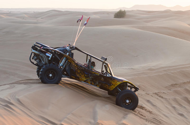 Dune buggy in the sands- stock images