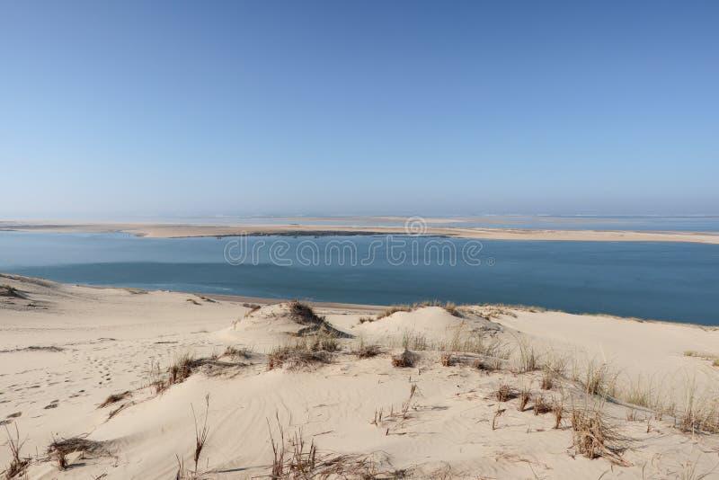 Dune célèbre de Pyla dans la ville de pilat la plus haute dune de désert en Europe France images stock