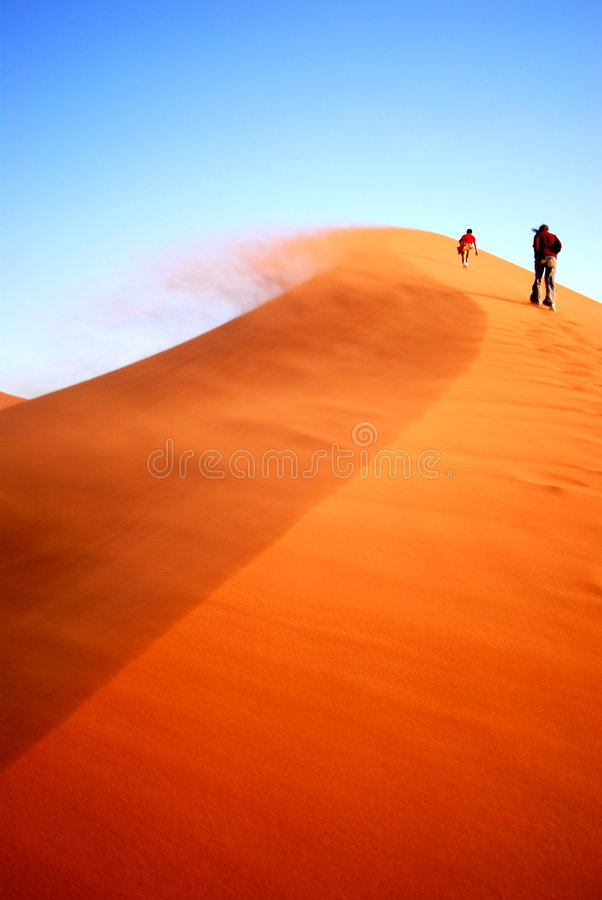 Download Dune climbing stock image. Image of difficault, dune, blue - 7136927
