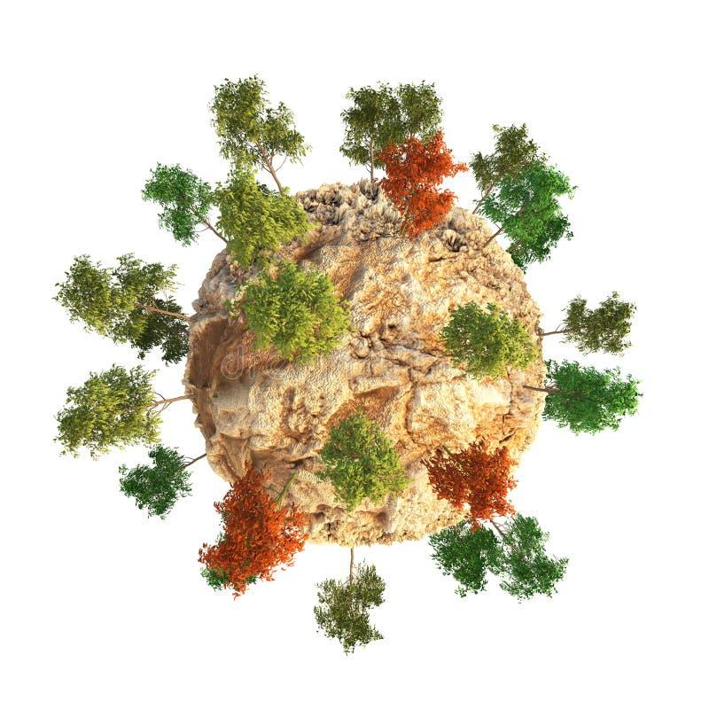 Dune 3D de planète illustration de vecteur