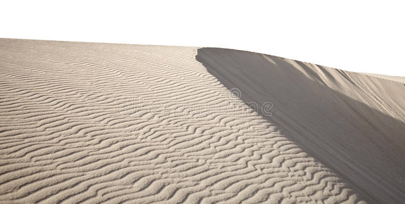 Dune de Barchan d'isolement image stock