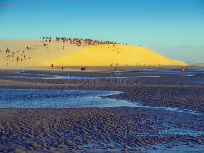 Dune de coucher du soleil photographie stock