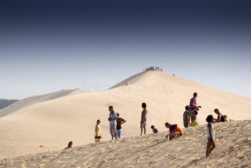 Dune de sable de Pilat photo libre de droits