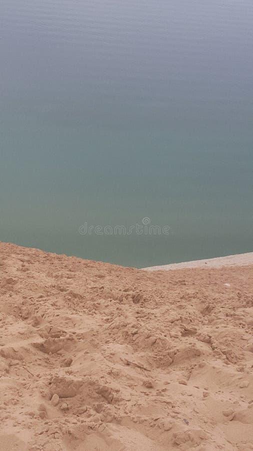 Dune de sable du lac Michigan chaude image stock