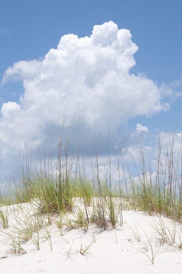 Dune de sable sous le nuage photo libre de droits