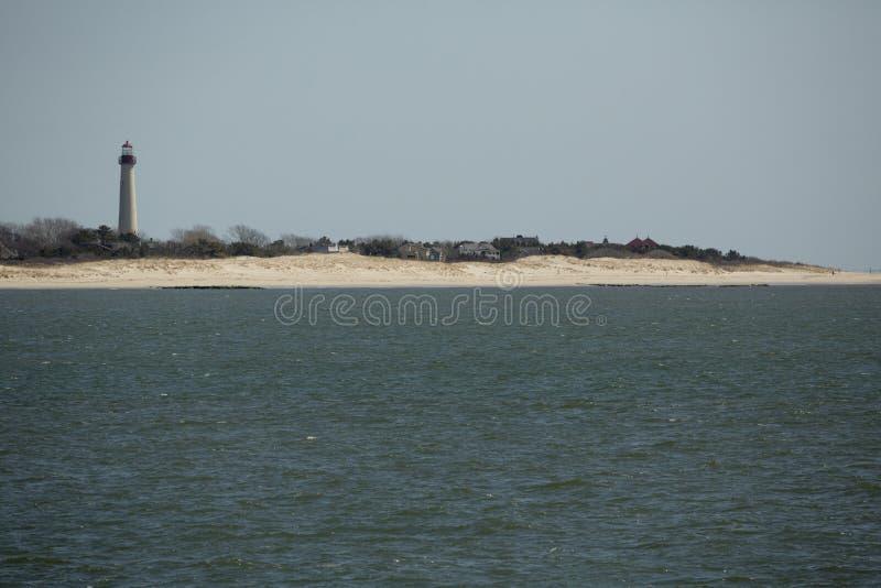 Dune del faro e di sabbia di Cape May nel New Jersey del sud immagini stock