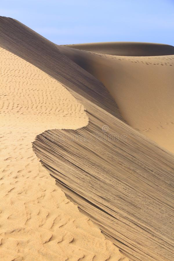 Dune del gran canaria immagini stock libere da diritti