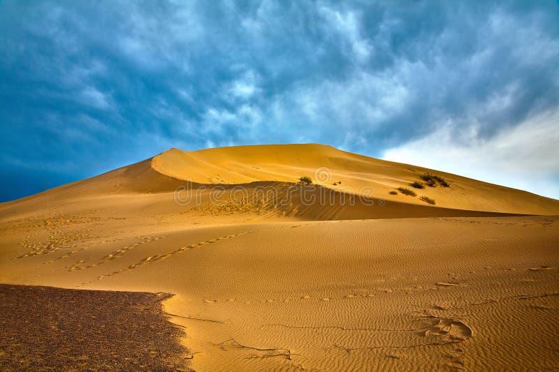 Dune di canto di Altyn Emel in Kazakhstan immagine stock libera da diritti