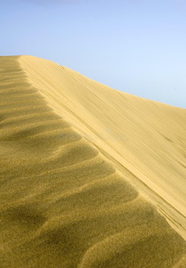 Dune di Maspalomas al tramonto immagine stock