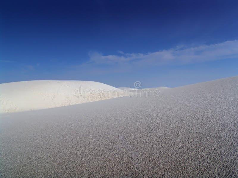 Dune di sabbia bianche immagini stock