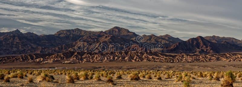 Dune di sabbia in Death Valley fotografia stock