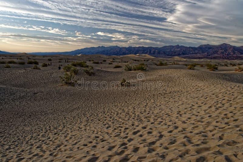 Dune di sabbia, Death Valley, California fotografie stock
